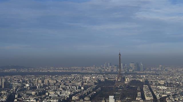 La capitale luttant contre le pic de pollution, mle 9 décembre 2016.