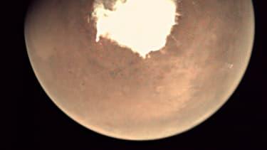 Une photographie de Mars prise par une webcam à bord de la sonde européenne Mars Express.
