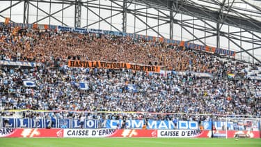 Le stade Vélodrome lors du match entre l'Olympique de Marseille et Rennes, le 19 septembre