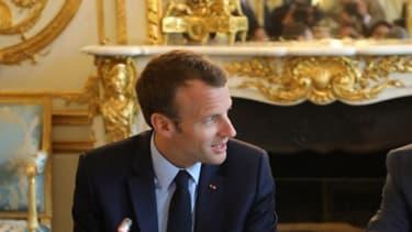 Emmanuel Macron et Jean-Louis Borloo, le 22 mai 2018 à Paris
