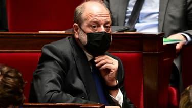 Le ministre français de la Justice Eric Dupond-Moretti à l'Assemblée nationale à Paris, le 9 mars 2021
