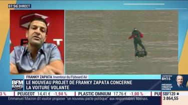 Taxis volants, voiture volante: Franky Zapata veut lever 10 millions d'euros pour financer ses projets