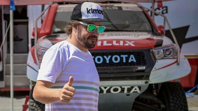 Fernando Alonso, à Lichtenburg (Afrique du Sud) le 13 septembre 2019