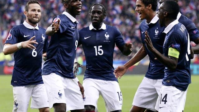 Paul Pogba et les Bleus heureux