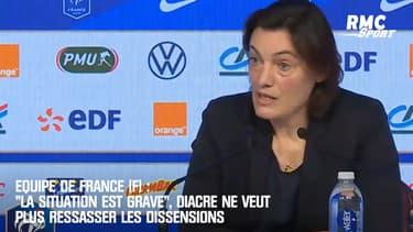 """Equipe de France (F) : """"La situation est grave"""", Diacre ne veut plus ressasser les dissensions"""