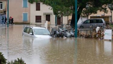 Inondations au Muy, dans le Var, le 24 novembre 2019
