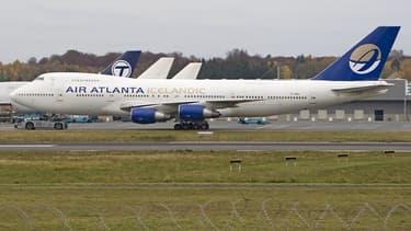 Le Boeing 747-200F d'Air Atlanta Icelandic, immatriculé TF-AMR, ici sur le tarmac de l'aéroport international du Luxembourg.