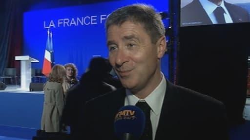 Le trésorier de la campagne UMP, Philippe Briand, au micro de BFMTV en 2012.