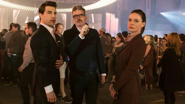 Tom Cruise, le réalisateur Christopher McQuarrie et Rebecca Ferguson.