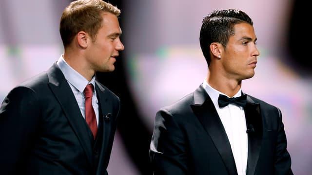 Manuel Neuer et Cristiano Ronaldo