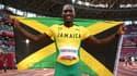 Hansle Parchment, champion olympique du 110 mètres haies lors des Jeux de Tokyo, le 5 août 2021.
