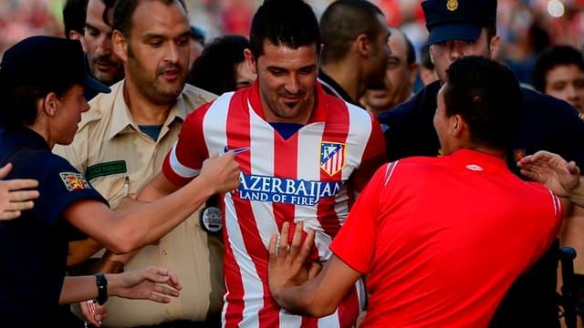 David Villa sous son nouveau maillot