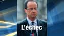 L'affiche de l'UMP montre François Hollande sous la pluie, lors de son premier jour à la présidence de la République.