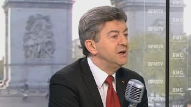 Jean-Luc Mélenchon, le président du Front de Gauche, le 3 mai 2013 sur le plateau de BFMTV