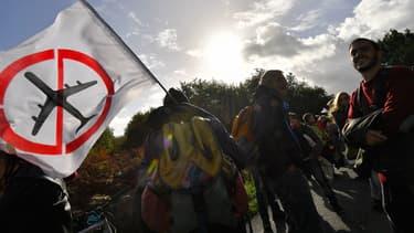 Manifestation contre l'aéroport de Notre-Dame-des-Landes, le 21 octobre dernier.