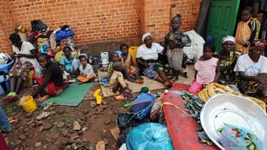 A Bangui, des familles ont trouvé refuge près de la cathédrale Saint Paul, le 7 décembre 2013.