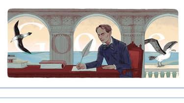 Google rend hommage au poète français Charles Baudelaire