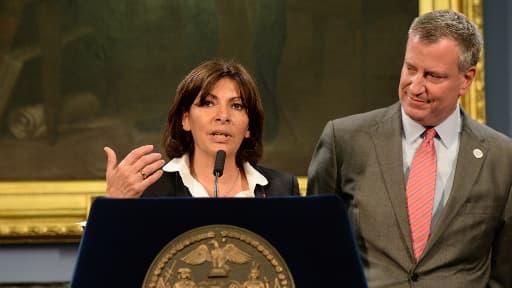 Anne Hidalgo a exprimé sa réserve face à une candidature à la tenue des JO d'été 2024, lors d'une conférence de presse avec le maire de New York, Bill de Blasio vendredi.