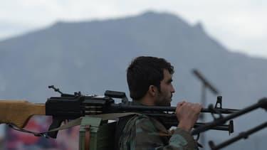 Le personnel de sécurité aghan à Kaboul en avril 2016 après une attaque-suicide de talibans (Photo d'illustration)