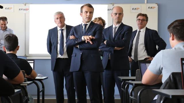 Emmanuel Macron à Egletons.