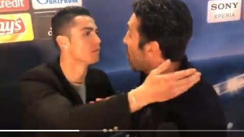Cristiano Ronaldo et Gianluigi Buffon