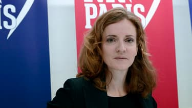 Nathalie Kociusko-Morizet le 13 novembre lors de la présentation de sa campagne pour le élections municipales de Paris.