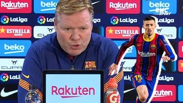Barça : Interrogé sur l'erreur de Lenglet, Koeman s'en prend à ses attaquants