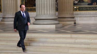 Le président François Hollande au Panthéon, à Paris, le 26 juin 2013