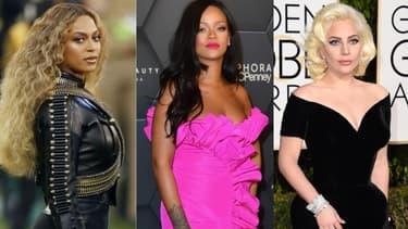 Beyoncé, Rihanna, Lady Gaga