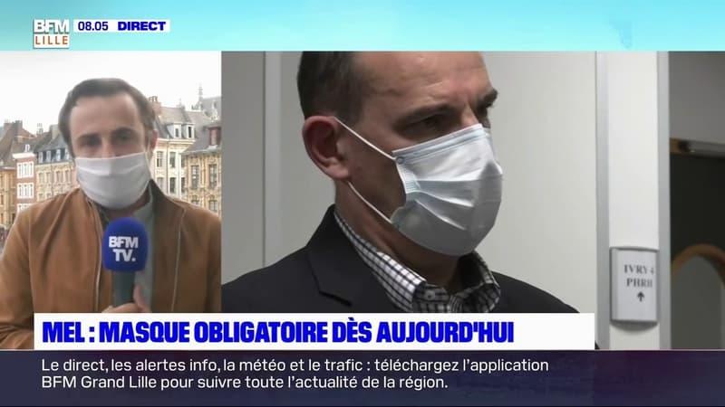 Jean Castex en déplacement à Lille et à Roubaix pour le début de l'obligation du port du masque dans l'espace public