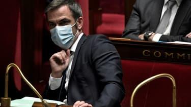 Le ministre de la Santé Olivier Véran à l'Assemblée nationale, le 3 novembre 2020 à Paris