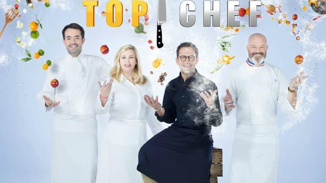 """Jean-François Piège, Hélène Darroze, Michel Sarran et Philippe Etchebest dans le jury de """"Top Chef 2018"""""""