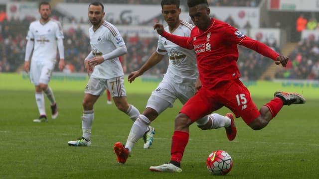 Daniel Sturridge face à Swansea