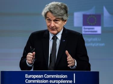 Le commissaire au Marché intérieur Thierry Breton le 16 décembre 2020 à Bruxelles
