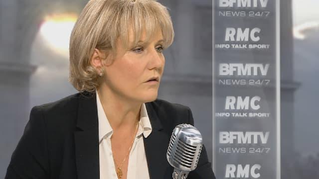 """Nadine Morano était l'invitée de """"Bourdin direct"""", ce lundi matin sur BFMTV/RMC."""