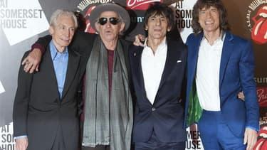Charlie Watts, Keith Richards, Ronnie Wood et Mick Jagger (de gauche à droite).