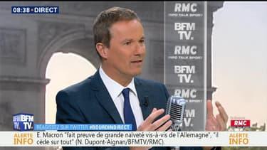 Nicolas Dupont-Aignan face à Apolline de Malherbe en direct