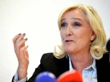Marine Le Pen, le 23 septembre lors d'une conférence de presse à Metz