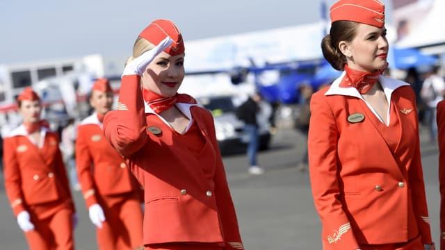 Pour l'image de marque de la compagnie, Aeroflot préfère les hôtesses jeunes et sveltes.