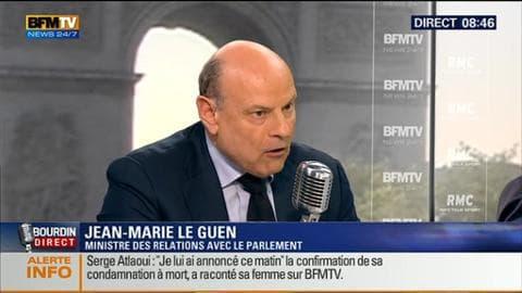 Jean-Marie Le Guen face à Jean-Jacques Bourdin en direct