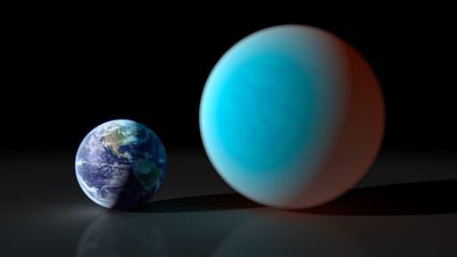 """La """"planète diamant"""", Cancri, d'un diamètre deux fois supérieur à celui de la Terre"""