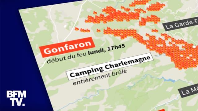 CARTE. Visualisez l'étendue de l'incendie dans le Var, deux jours le départ des feux