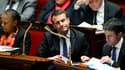 Christiane Taubira, Emmanuel Macron et Manuel Valls le 19 janvier 2016 à l'Assemblée.