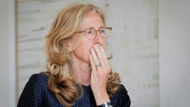 Nicole Belloubet à sa sortie de l'Élysée le 3 juin 2020 à Paris