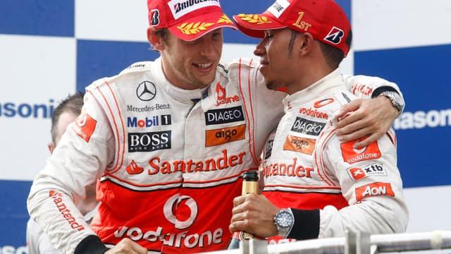 Button et Hamilton