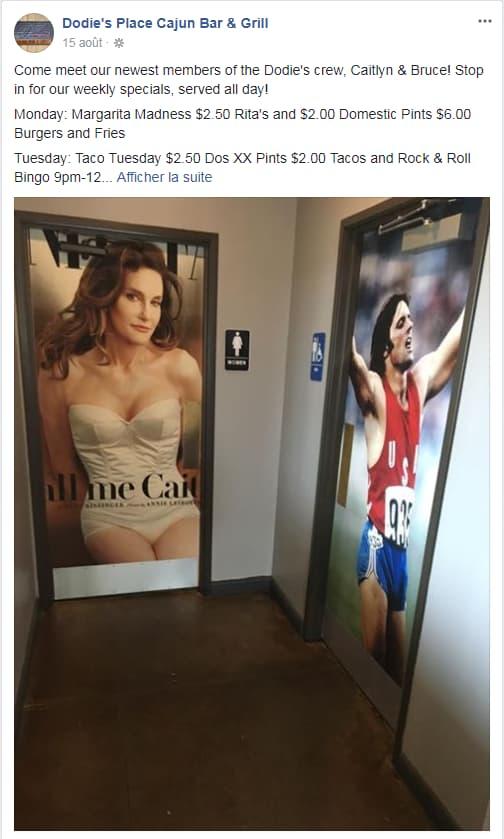 Les portes des toilettes du Dodie's Place Cajun Bar & Grill