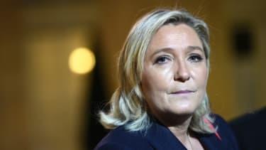 Marine Le Pen le 15 novembre 2015 à l'Elysée