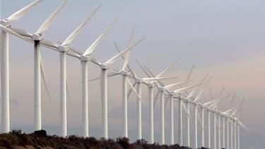 """Le ministre de l'Ecologie, Jean-Louis Borloo, a appelé les députés au consensus sur le projet de loi Grenelle II alors que les partisans de l'énergie éolienne parlent d'un """"arrêt de mort"""" pour cette activité. /Photo d'archives/REUTERS/Jean-Paul Pélissier"""