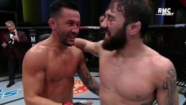 UFC : La très belle image de respect mutuel entre Munhoz e Rivera après la victoire du Brésilien