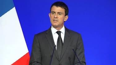 Manuel Valls lors de sa conférence de presse vendredi.